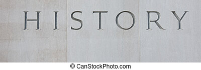 History carved in stone letters