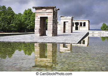The Egyptian temple Debod - The ancient Egyptian temple...