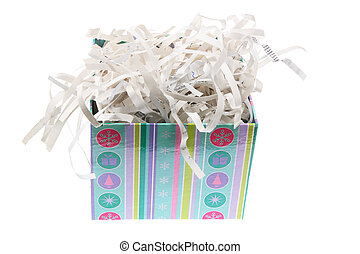 Paper Shreddings in Gift Box