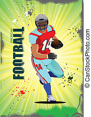 American football pozter Vector illustration