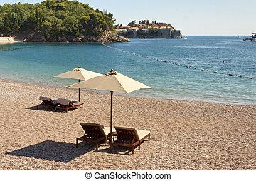 Private beach - Montenegro - Private beach in background...