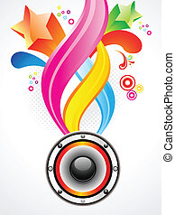 abstract colorful sound