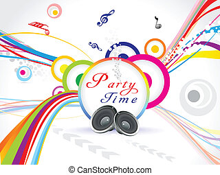abstract colorful music party