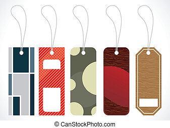 abstract multiple tags design