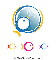 business fish icon design