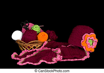 Crochet Project Scarf and Hat - Cloche (hat) and neck scarf...