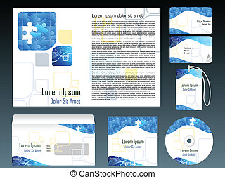 abstract corporate id template vector illustration