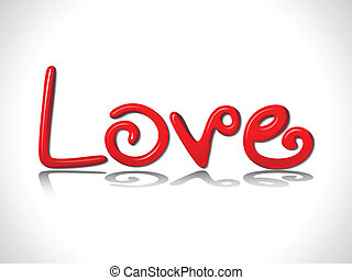 abstract shiny love text vector illustration