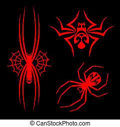 aranhas, Tatuagens