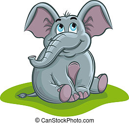 Elephant baby - Cute elephant baby in cartoon style for...