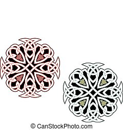Celtic ornaments and patterns for irish or religious design