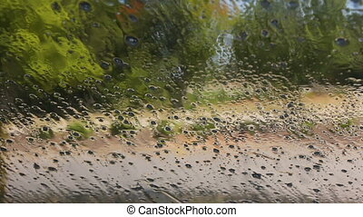 carwash - touchless car wash view from inside car