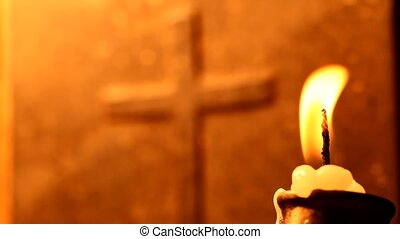 Candle - Holy cross with Candle
