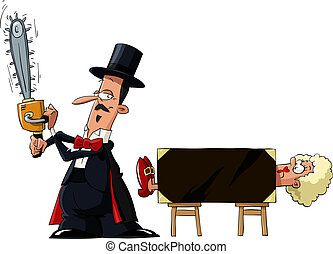 Magician - Juggler on a white background, vector...