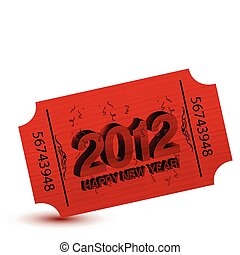 2012 new years party ticket