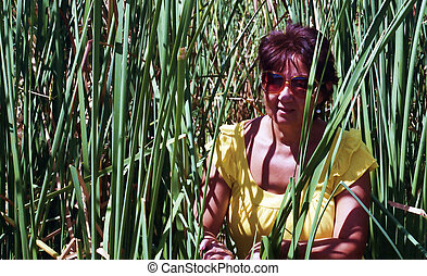 Woman in the Reeds - Woman among the reeds, shot on film...