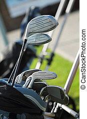 golf, clubs, golfbag