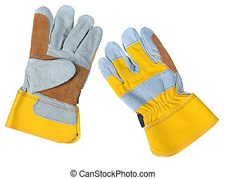 Leather work gloves - A pair of new leather work gloves...