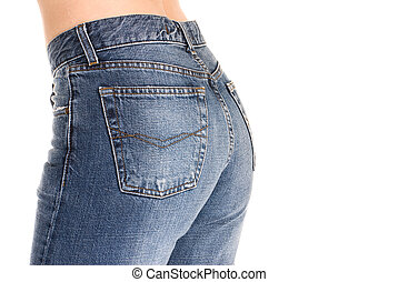 Tight fitting jeans - Beautiful buttocks in tight fitting...
