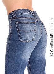Tight fitting jeans - A young woman with her tight fitting...