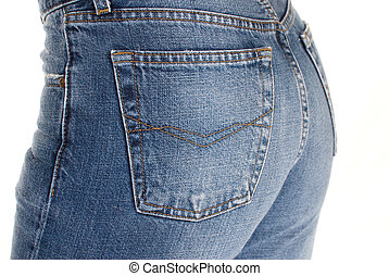 Tight fitting jeans - Close up of a womans tight fitting...