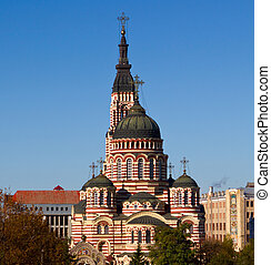 Cathedral in Kharkov, Ukraine - Blagoveshensky cathedral in...