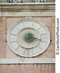 church clock in venice Italy