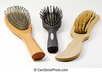 Combs - Close view of three different style combs