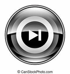 Forward icon black, isolated on white background.