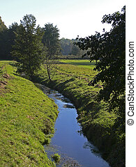 Brook in Lower Saxony, Germany - Brook in...