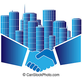 urban agreement - sign of urban agreement with handshake