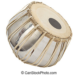 daga - one indian tabla daga drum isolated on white...