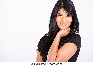 attractive indian woman - young attractive indian woman on...