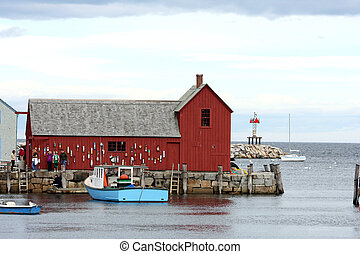 Red barn at Rockport, MA