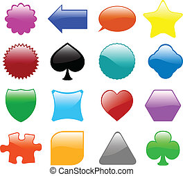 glossy shapes collection - vector