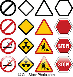 Shapes for warning signs - Shapes for warning and...