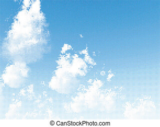 Skyscape. Vector illustration