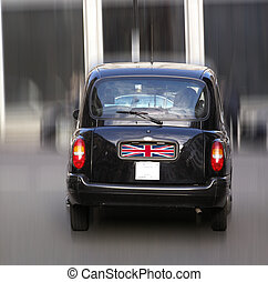 London Cab taxi car - A picture of Black Cab London taxi car