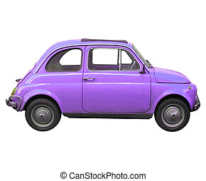 Fiat 500 car - A picture of Fiat 500 sixties Italian car