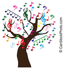 Music - Vector illustration of a musical tree