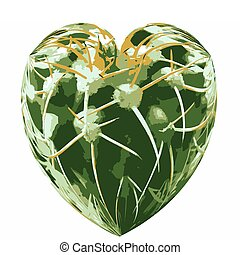 Love Hurts VB - Love Hurts Isolated Heart Shape with Thorny...
