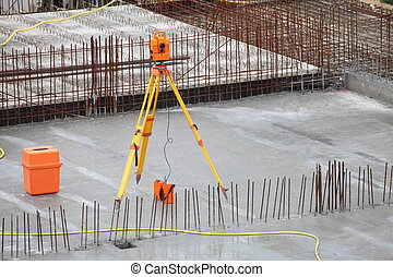 equipment theodolite tool at construction site