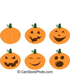 Pumpkin Faces - Various jack o\'lantern faces