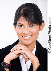 smart indian businesswoman - smart young indian...