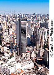 city of Sao Paulo with a view of the towers of the Paulista...