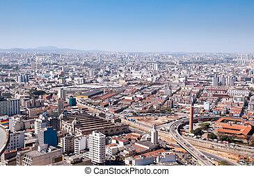 Municipal Market of Sao Paulo Brazil - Aerial view of...