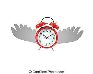 voando, tempo