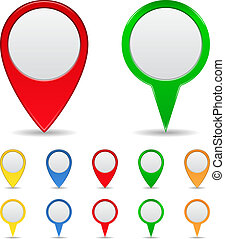 Map Markers - Vector Set of Map Markers