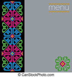 Traditional Mexican Menu Design