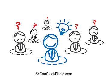 idea man in business network vector image